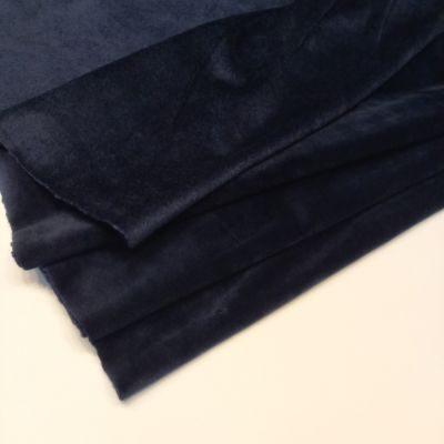 Tamsiai mėlynas soft veliūras su kailiuku