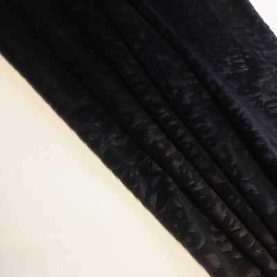 Juodas soft veliūras su leopardo raštu