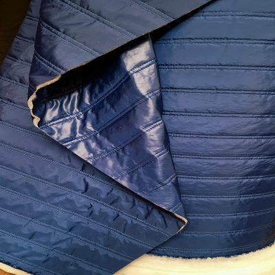 Tamsiai mėlynas dvipusis striukinis