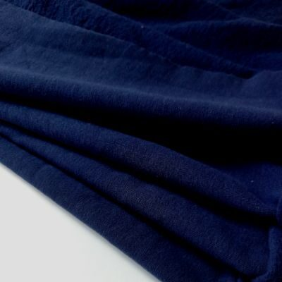 Gražus tamsiai mėlynas pūkis su elastanu