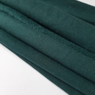 Žalio butelio spalva pūkis su elastanu