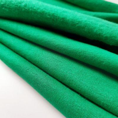 Natūralios žalios spalvos pūkis su elastanu