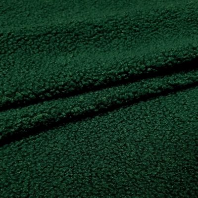 Teddy trikotažas tamsiai žalias