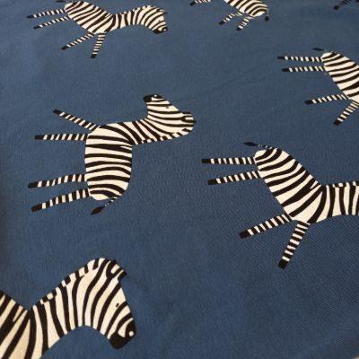 Zebras indigo fone su pūkeliu ir elastanu