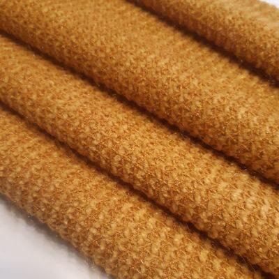 Channel knitting metalic dark yellow color