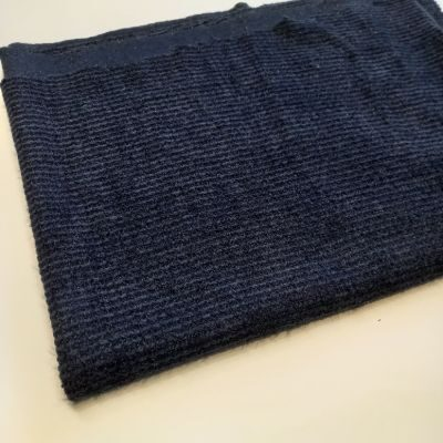 Channel knitting metalic dark blue color