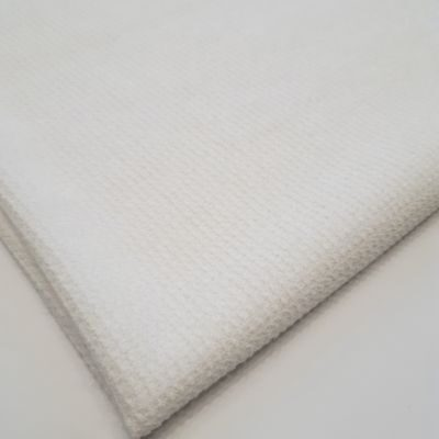 Channel knitting metalic white color