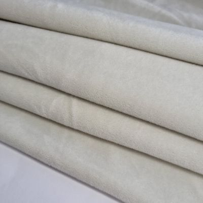 Dusty white soft veliūras