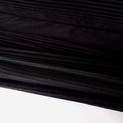 Juodas džersis velvetas